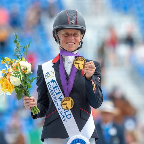 Rosalind CANTER (GBR) individual and team gold medalist- Eventing Jumping - FEI World Equestrian Gamesô Tryon 2018 - Tryon, North Carolina, USA - 17 September 2018